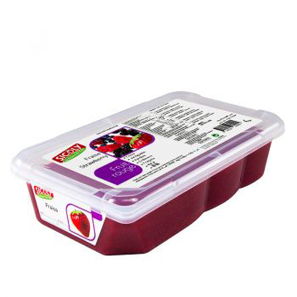 Frozen Strawberry Fruit Puree x 1 kg