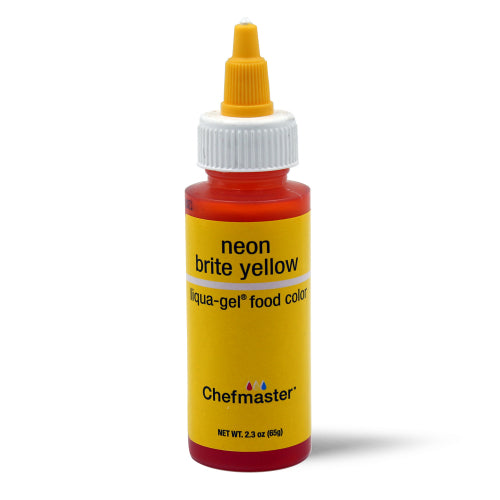 Chefmaster Neon Brite Yellow Liqua-Gel Food Coloring (# 5716) 2.3 OZ