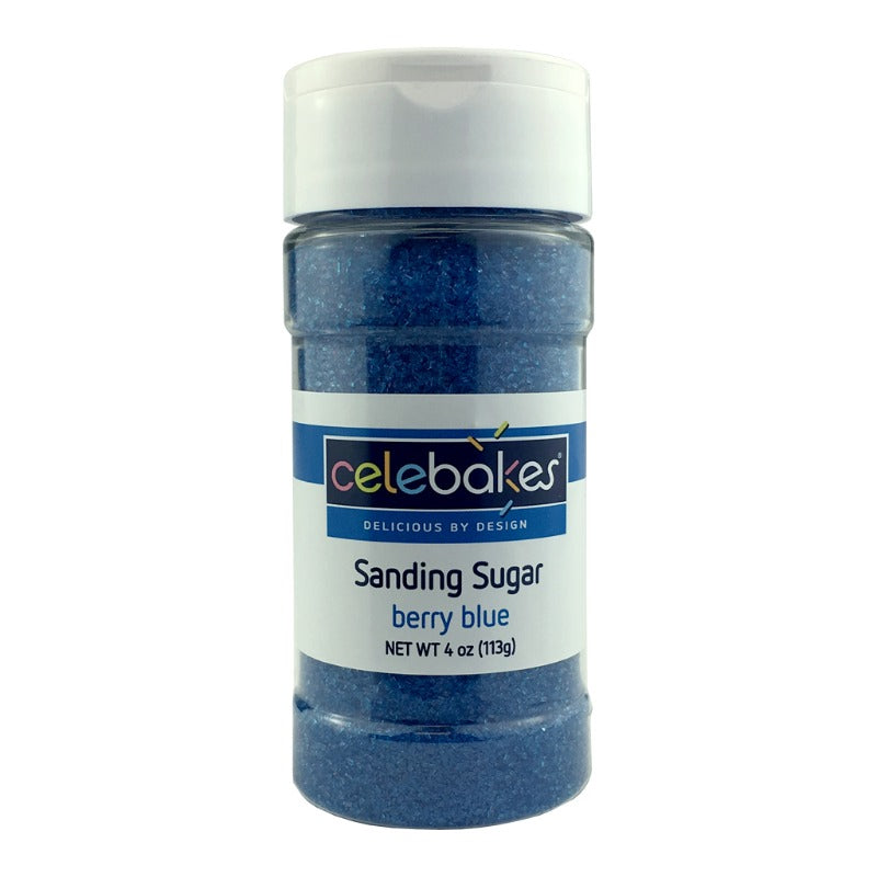 Berry Blue Sanding Sugar, 4 oz