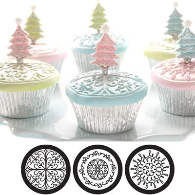 SCROLL Cupcake / Cookie Texture Tops