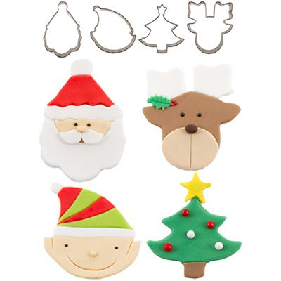 Cutie Cupcake Cutter Christmas  set of 4
