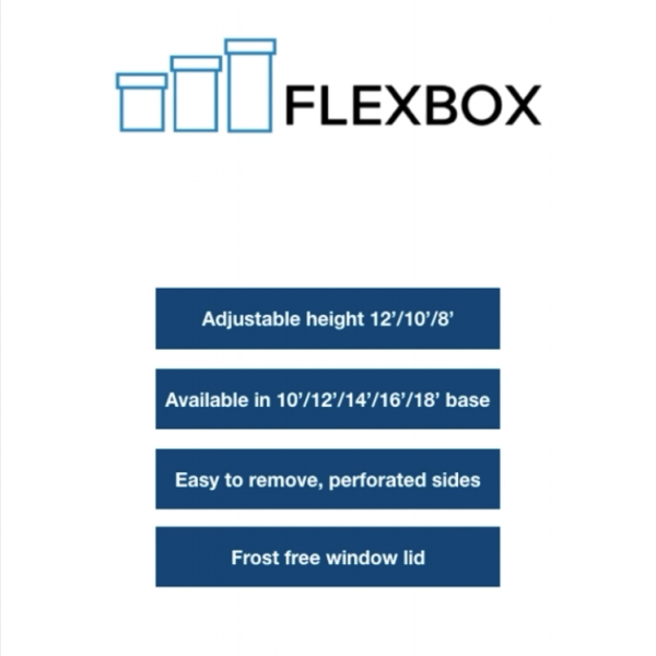 Enjay Adjustable Height Cake Box - FlexBox 14x14