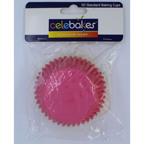 Celebakes Pink & Yellow Standard Baking Cups, 50 Count