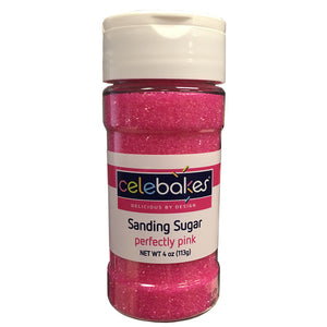 Perfectly Pink Sanding Sugar, 4 oz
