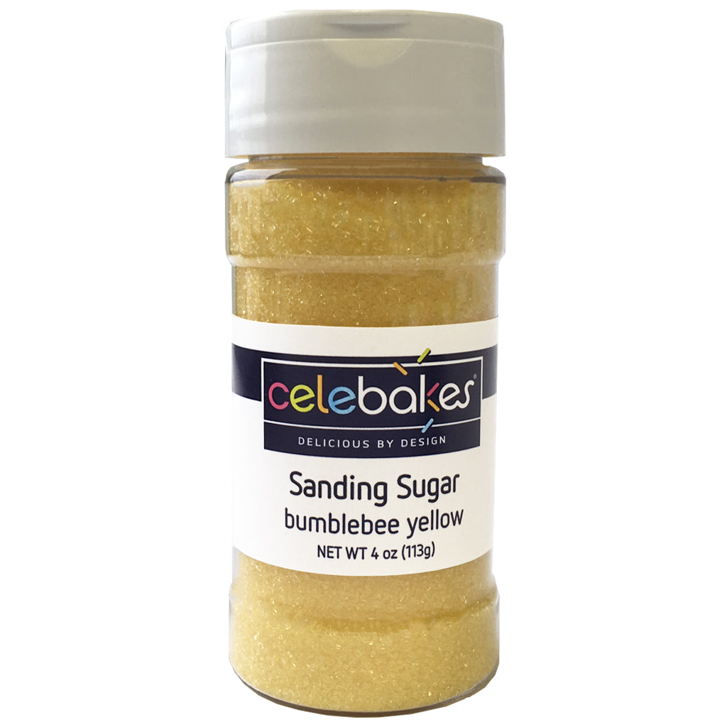 Bumblebee Yellow Sanding Sugar, 4 oz