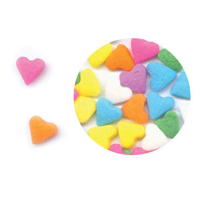Multi -Coloured Hearts Edible Confetti 150 gm