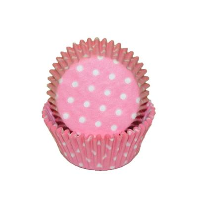 LIGHT PINK POLKA DOTS MINI BAKING CUPS /500 Product