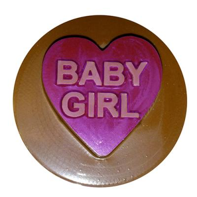 Baby Girl Round Sandwich Cookie Chocolate Mold