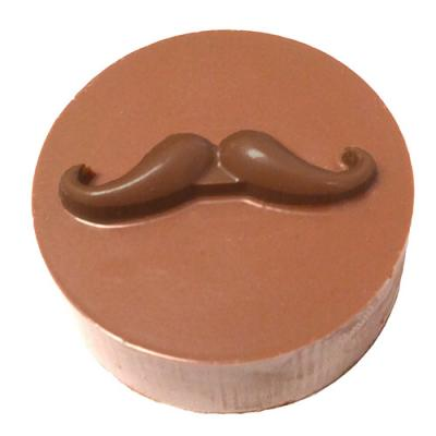 Mustache Round Sandwich Cookie Chocolate Mold