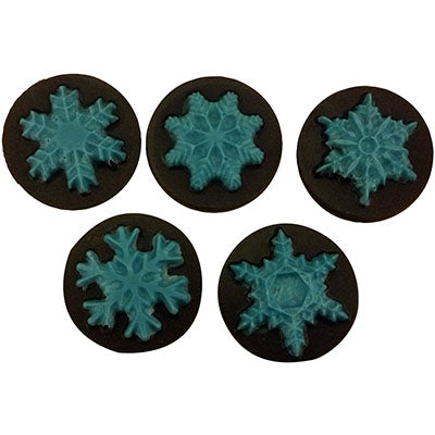 Snowflakes Round Sandwich Cookie Chocolate Mold