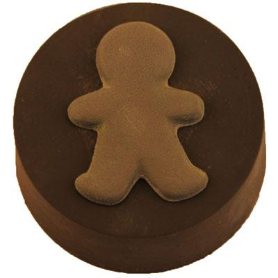 Gingerbread Boy Round Sandwich Cookie Chocolate Mold