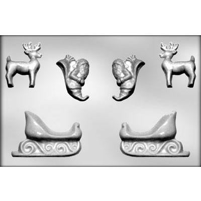 Sleigh 3D Chocolate Mold