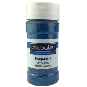 Berry Blue Nonpareils, 3.8 oz