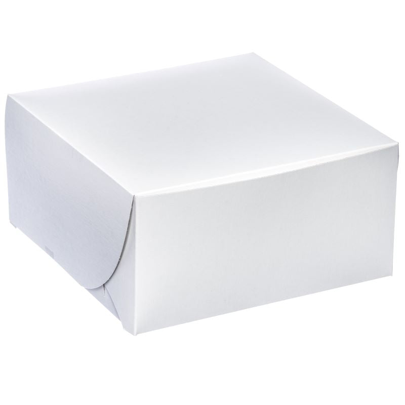 White Cake Box 9 x 9 x 5 / 25 pieces only