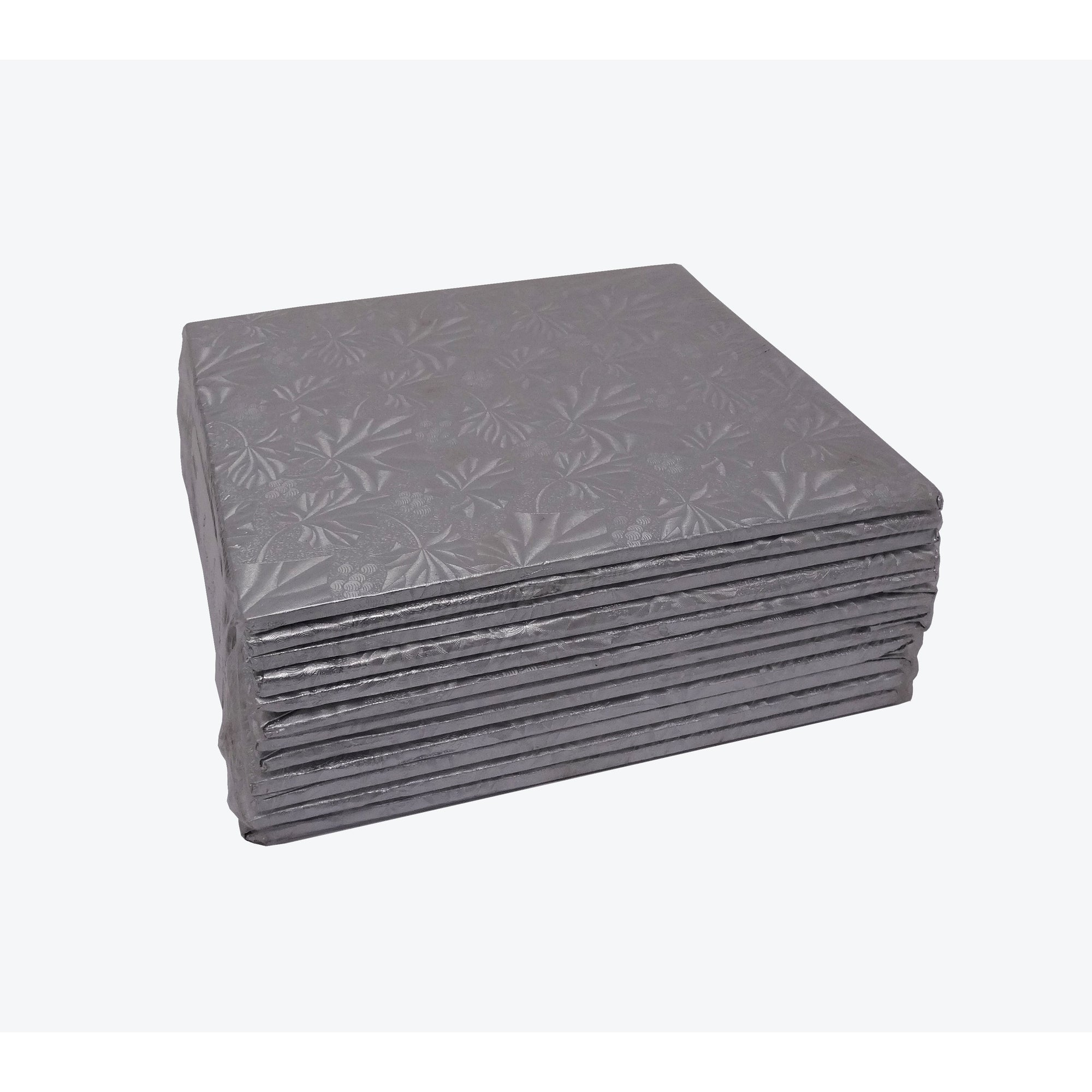 "8""  Square Silver Cake Card  12 pcs"