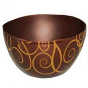 Dark Pompons Arabesques Chocolate Cup (J40)