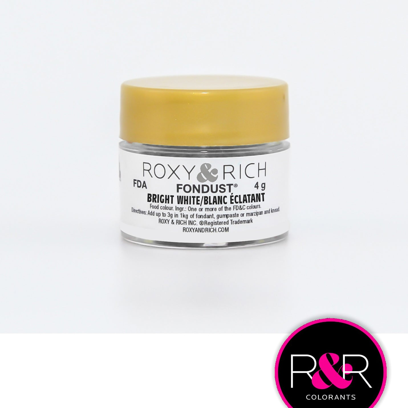 Roxy & Rich Bright White Fondust  (# F-001) 4 G