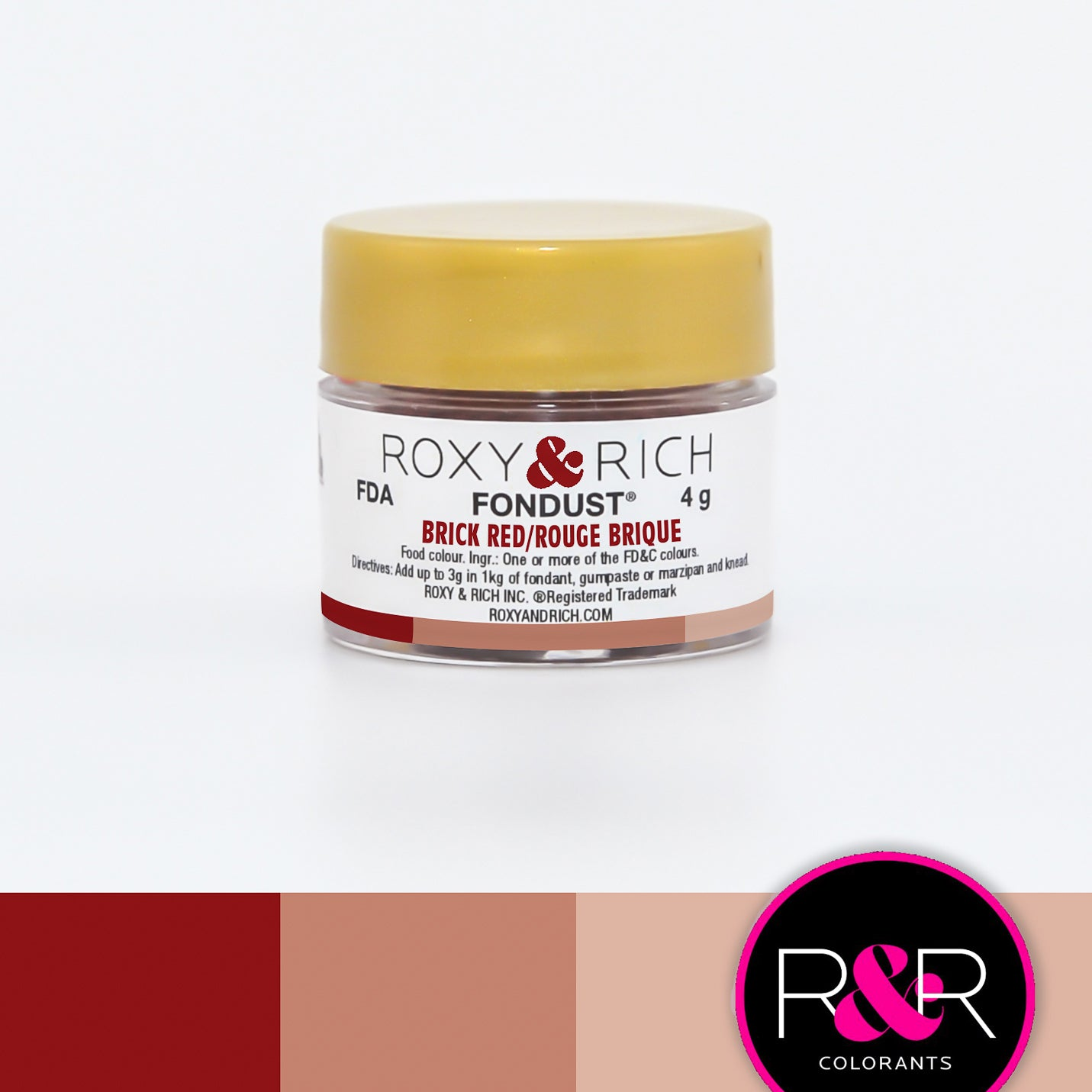 Roxy & Rich Brick Red Fondust  (# F-013) 4 G