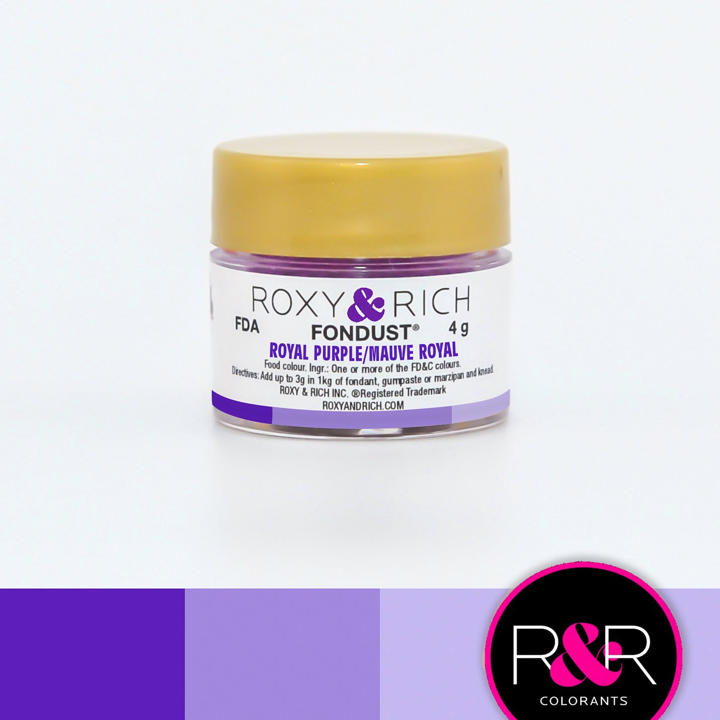 Roxy & Rich Royal Purple Fondust  (# F-020) 4 G