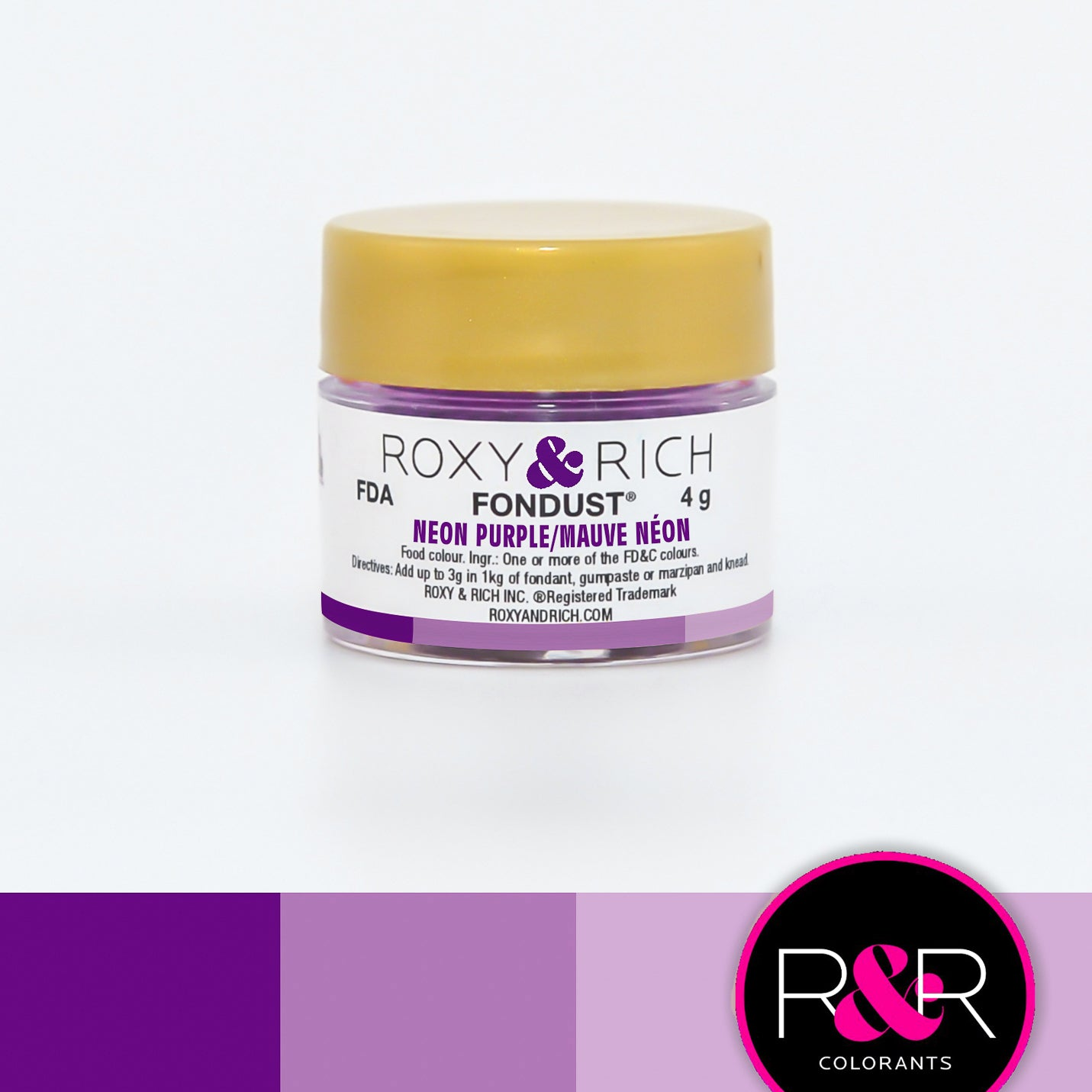 Roxy & Rich Neon Purple Fondust (# F-021) 4 G