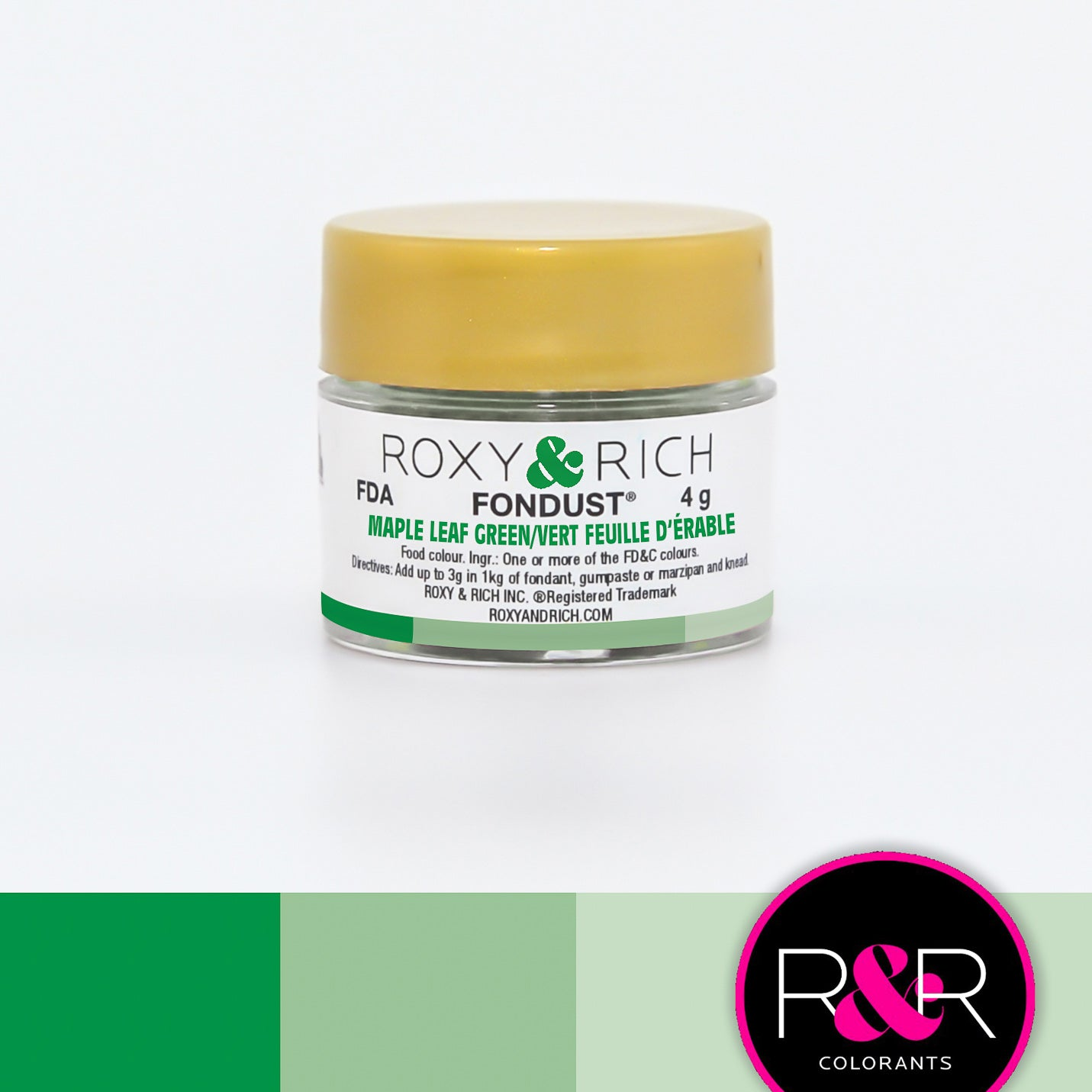 Roxy & Rich Maple Leaf Green Fondust  (# F-028) 4 G