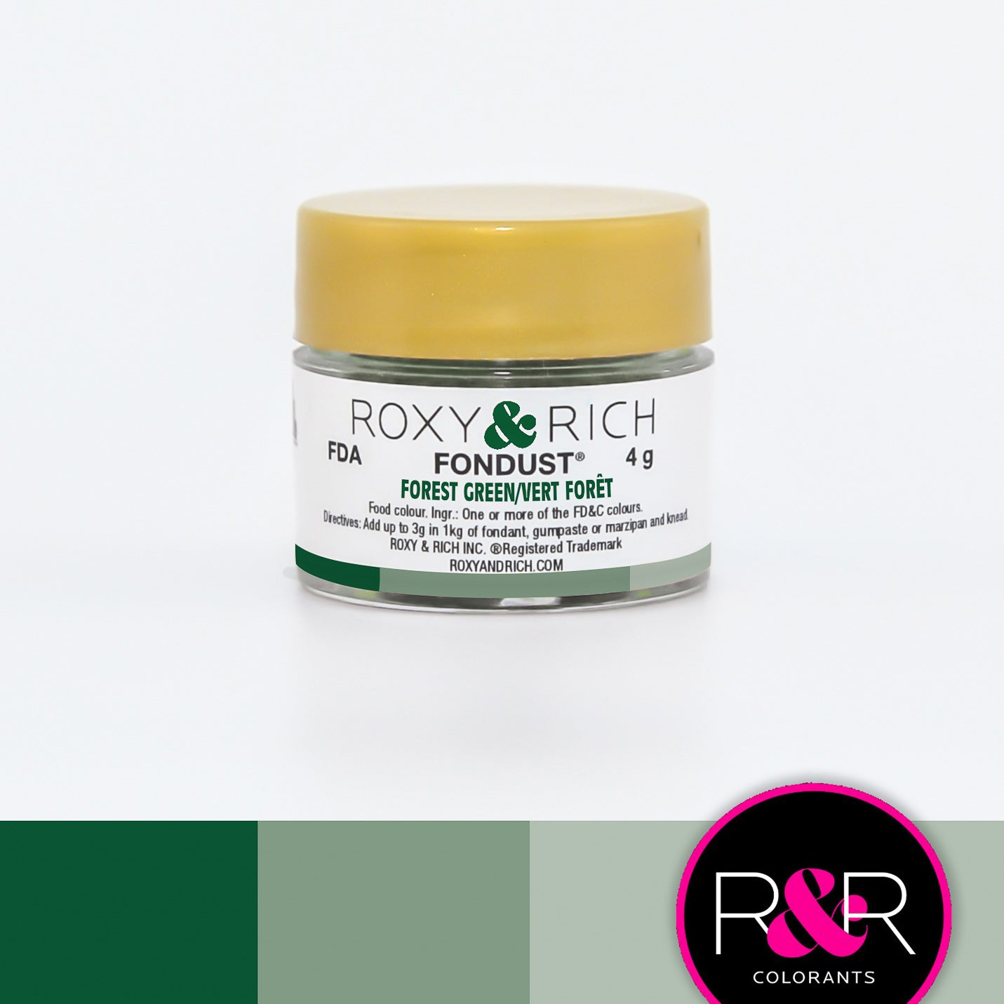Roxy & Rich Forest Green Fondust  (# F-029) 4 G