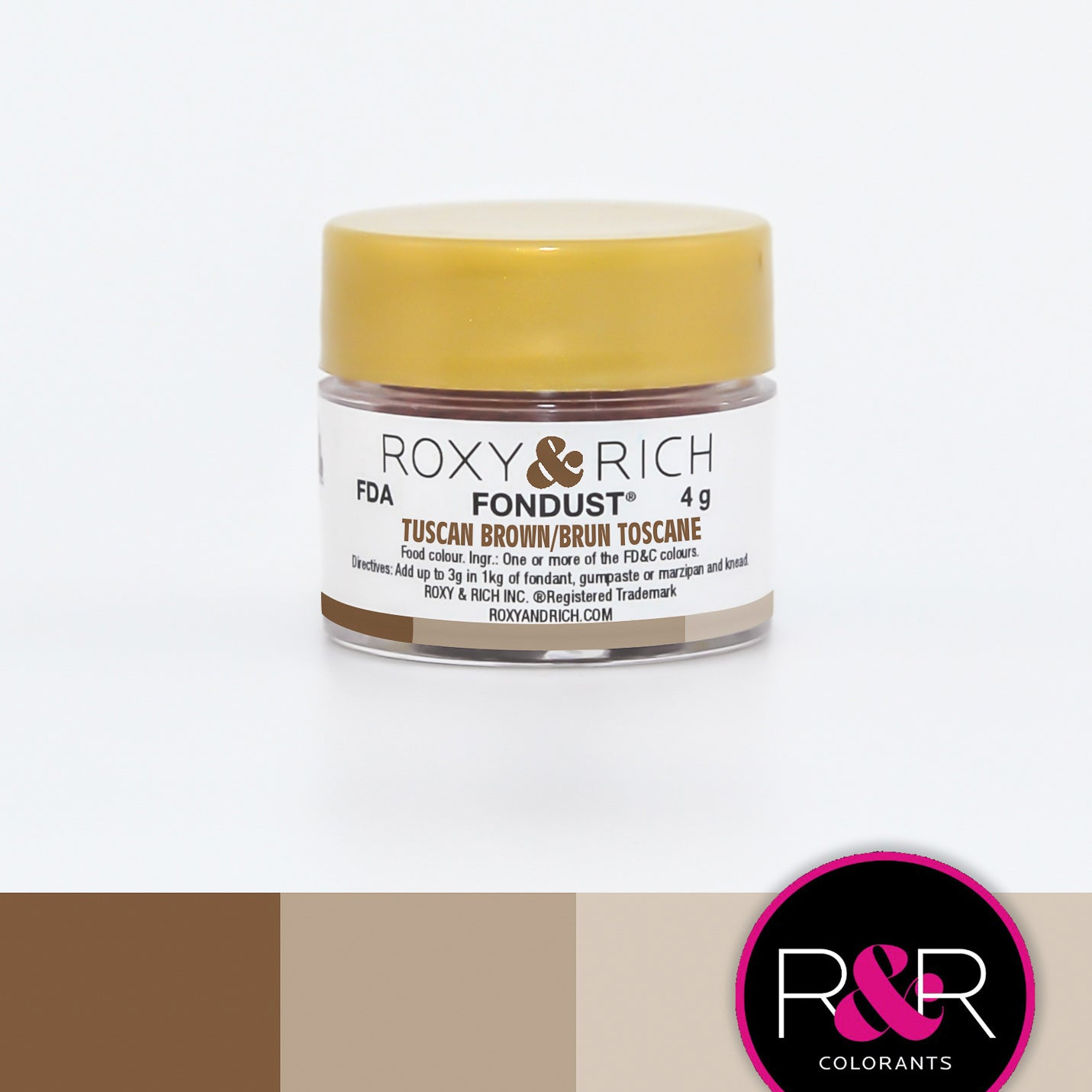Roxy & Rich Tuscan Brown Fondust  (# F-034) 4 G