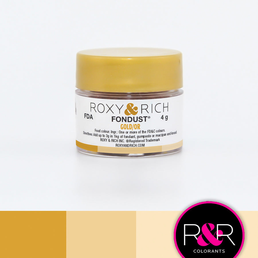 Roxy & Rich Gold Fondust  (# F-036) 4 G