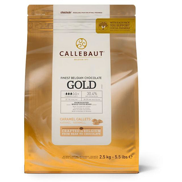 Callebaut Gold Chocolate Min.30% Cocoa Butter 2.5 kg