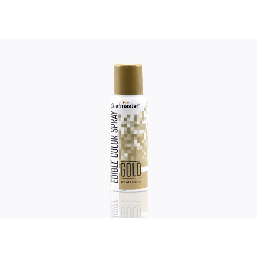 Chefmaster Edible Spray Paint Gold (# 3614) 1.5 OZ