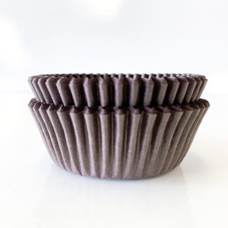 "Brown Cup Cake Liner 2"" x 1 1/4 x 4 1/2 40 gsm 500 pcs"