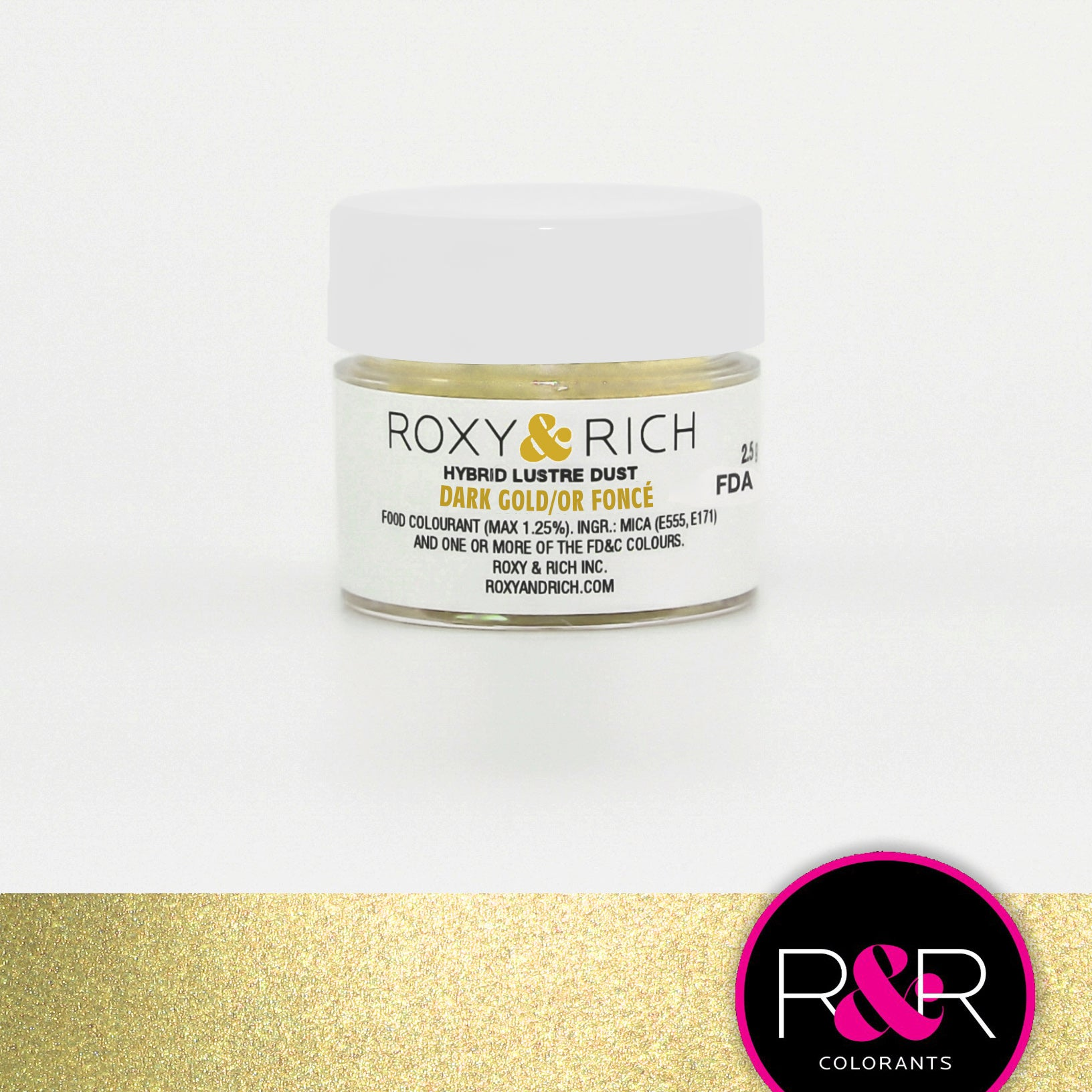 Roxy & Rich Hybrid Luster Dust Dark Gold (# L2-046) - 2.5 G
