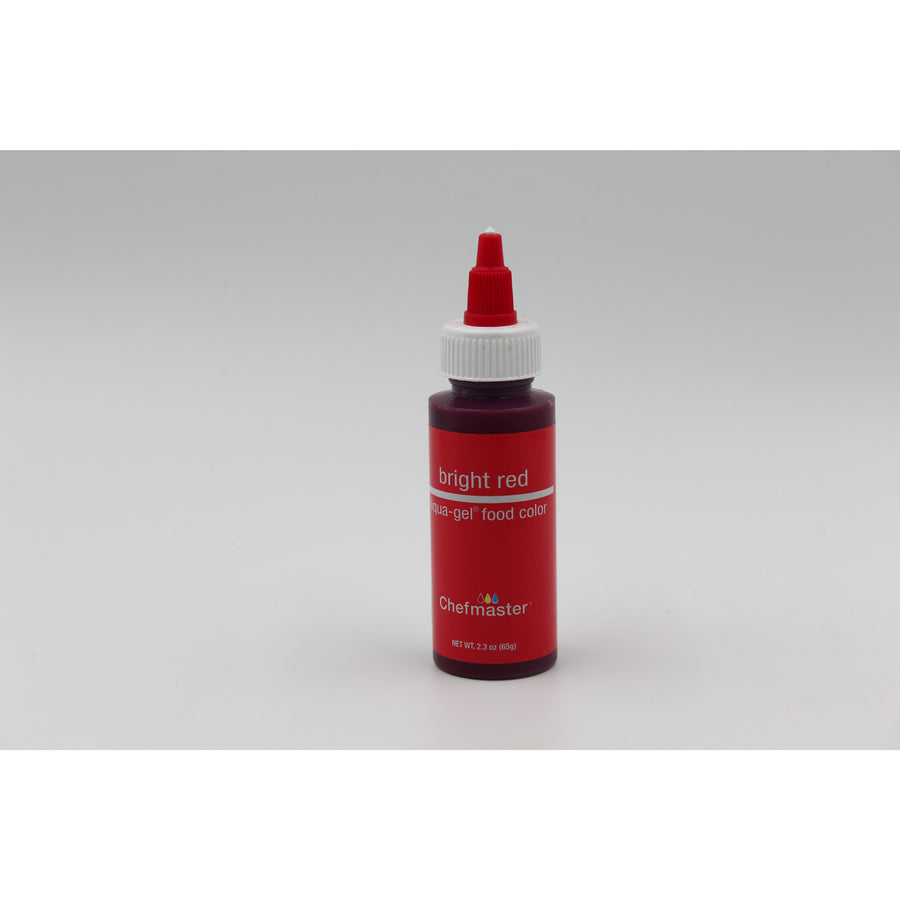 Chefmaster Bright Red Liqua-Gel Food Coloring (# ) 0.70 OZ