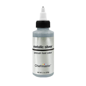 Chefmaster Metallic Silver Airbrush Food Coloring (# 3509) 2.0 OZ
