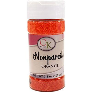Orange Nonpareils, 3.8 oz