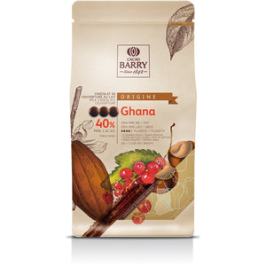 Cacao Barry Ghana Milk Chocolate Couverture Min. 40% Cocoa