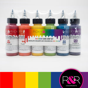 Roxy & Rich Cake Drip Rainbow Kit  (# CD-RBOW)  6 x 75 grams