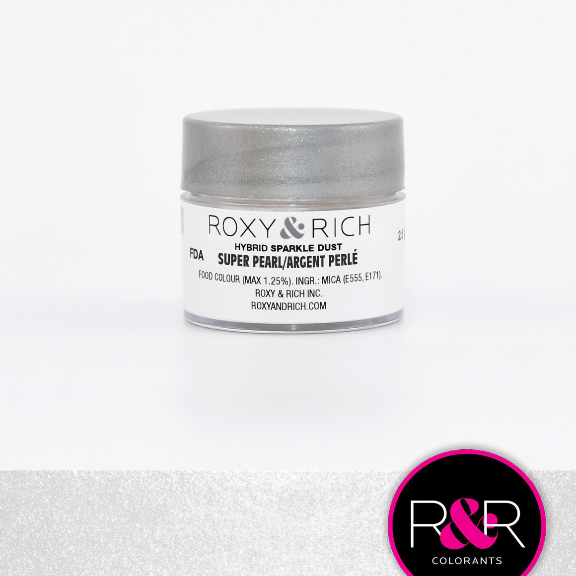 Roxy & Rich Hybrid Sparkle Dust Silver Super Pearl (#SP2-006) - 2.5 gm