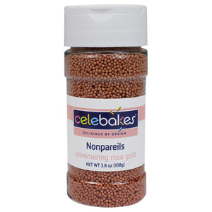 Shimmering Rose Gold Nonpareils, 3.8 oz