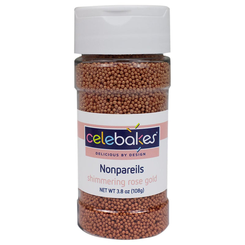 Rose Gold Shimmering Nonpareils, 3.8 oz