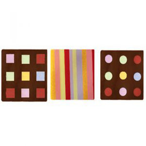 Square Dark Chocolate Decoration Assorted (CN240)