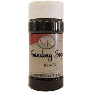 Black Sanding Sugar, 4 oz