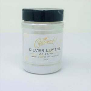 Crescendo Silver Lustre Powder, Edible  2 oz