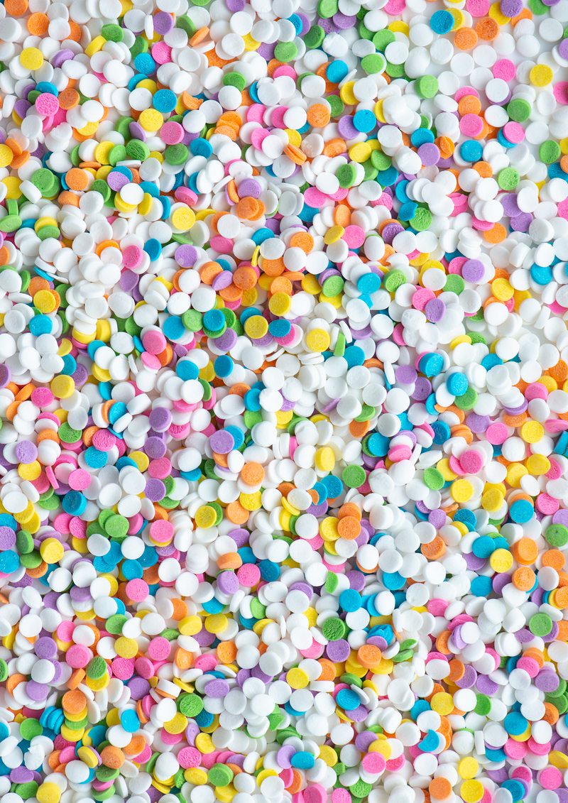PASTEL CONFETTI 4 oz Bottle (1/2 cup/ Net Weight 3 oz) Sweetapolita