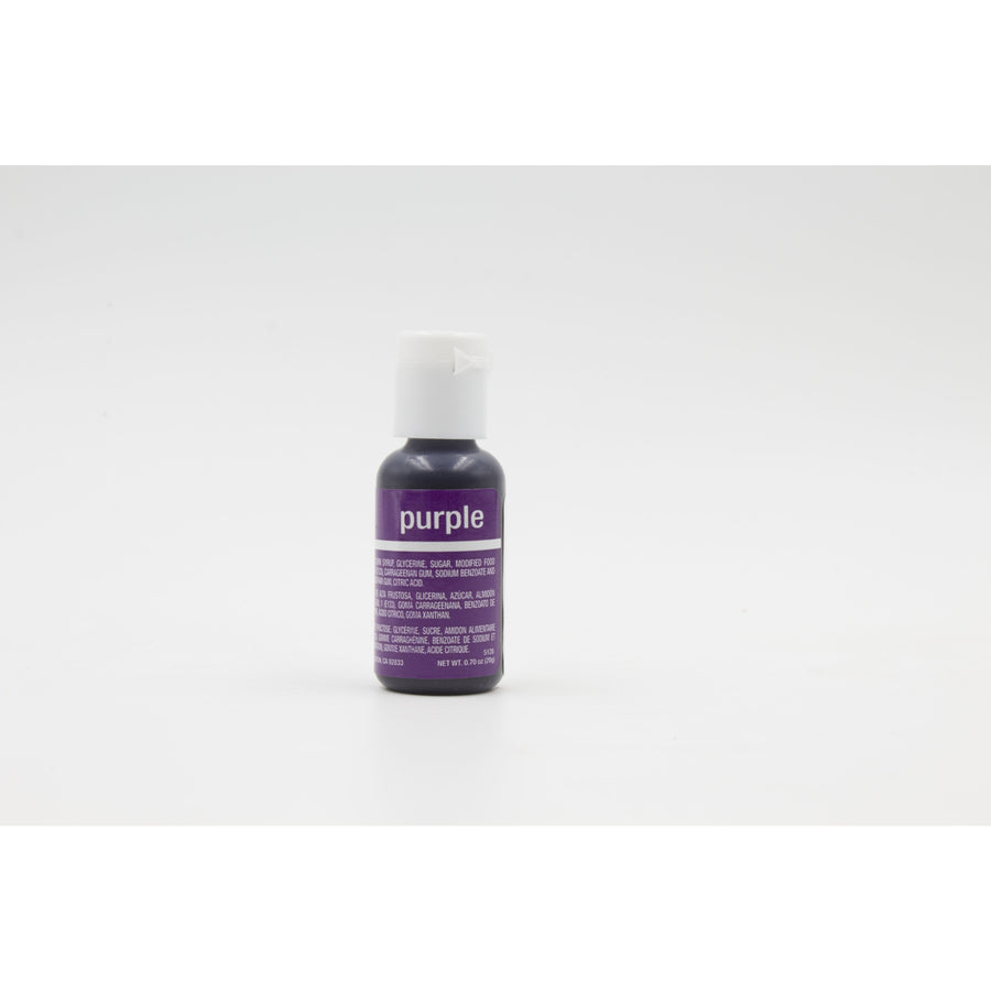 Chefmaster Purple Liqua-Gel Food Coloring (# 5128) 0.70 OZ