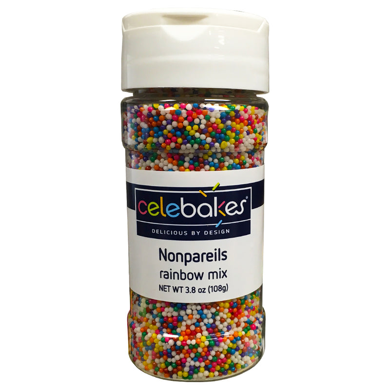 Rainbow Mixed Nonpareils, 3.8 oz