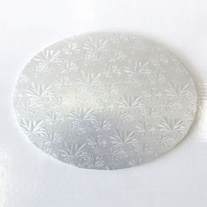 "10"" Round Silver Cake Board Embossed 1/4"" x 12 pcs"