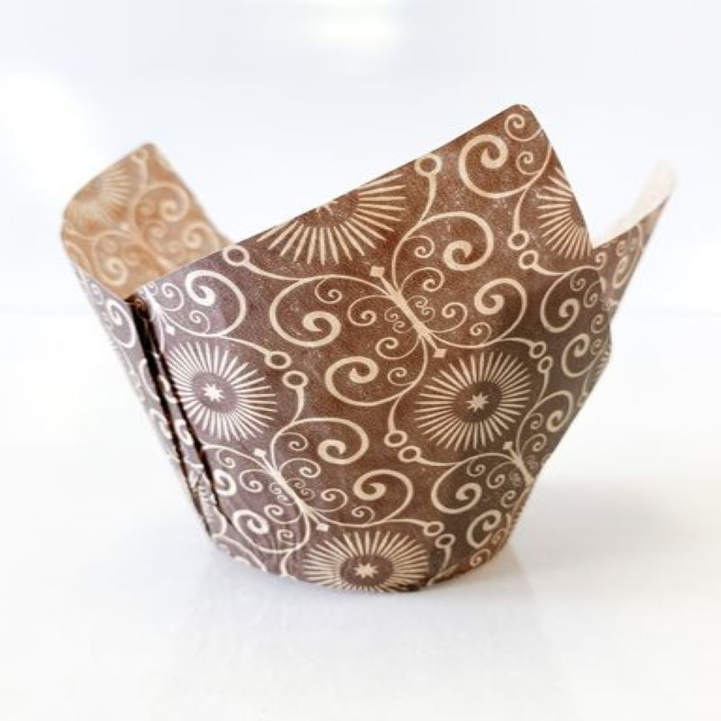 "Mariposa Brown Tulip Cups 2"" x 6 1/4""- 65 gsm (160) 1 x 100 pcs"
