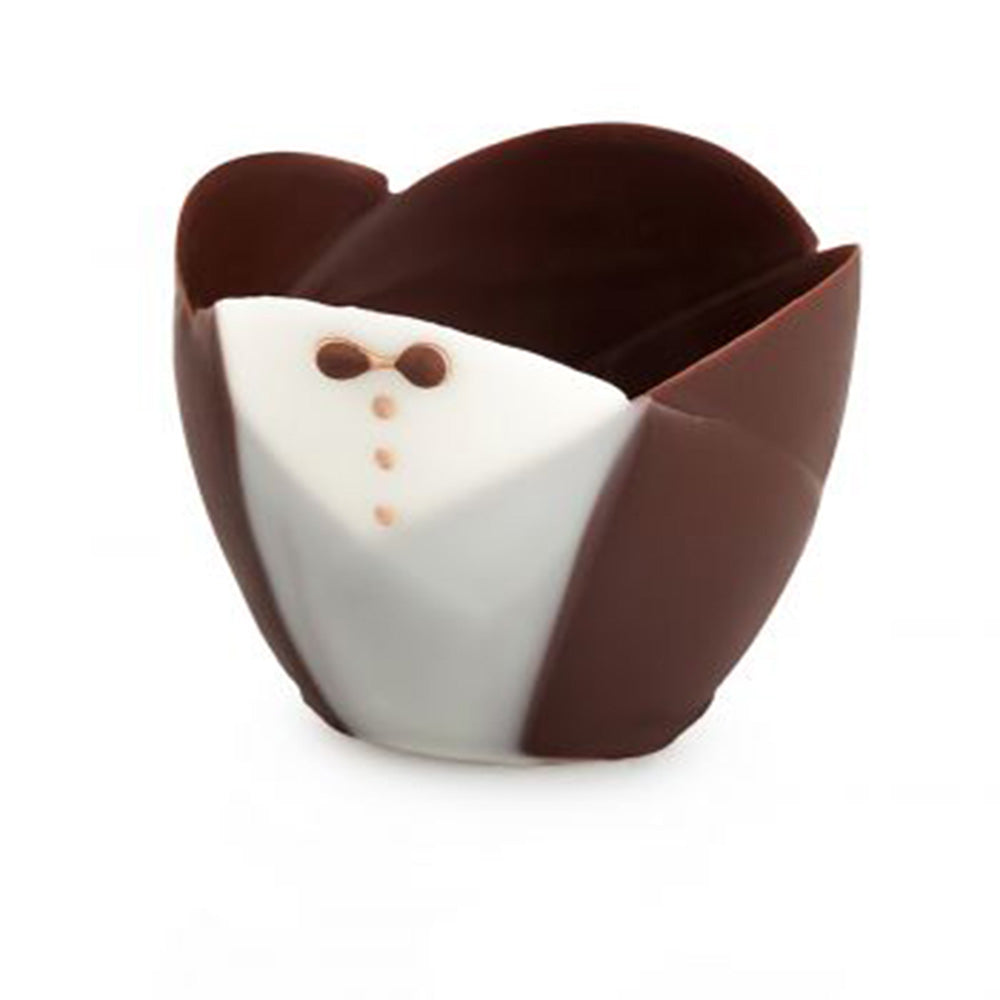 Papagino  Tuxedo Mini Tulip Dark Chocolate Cup