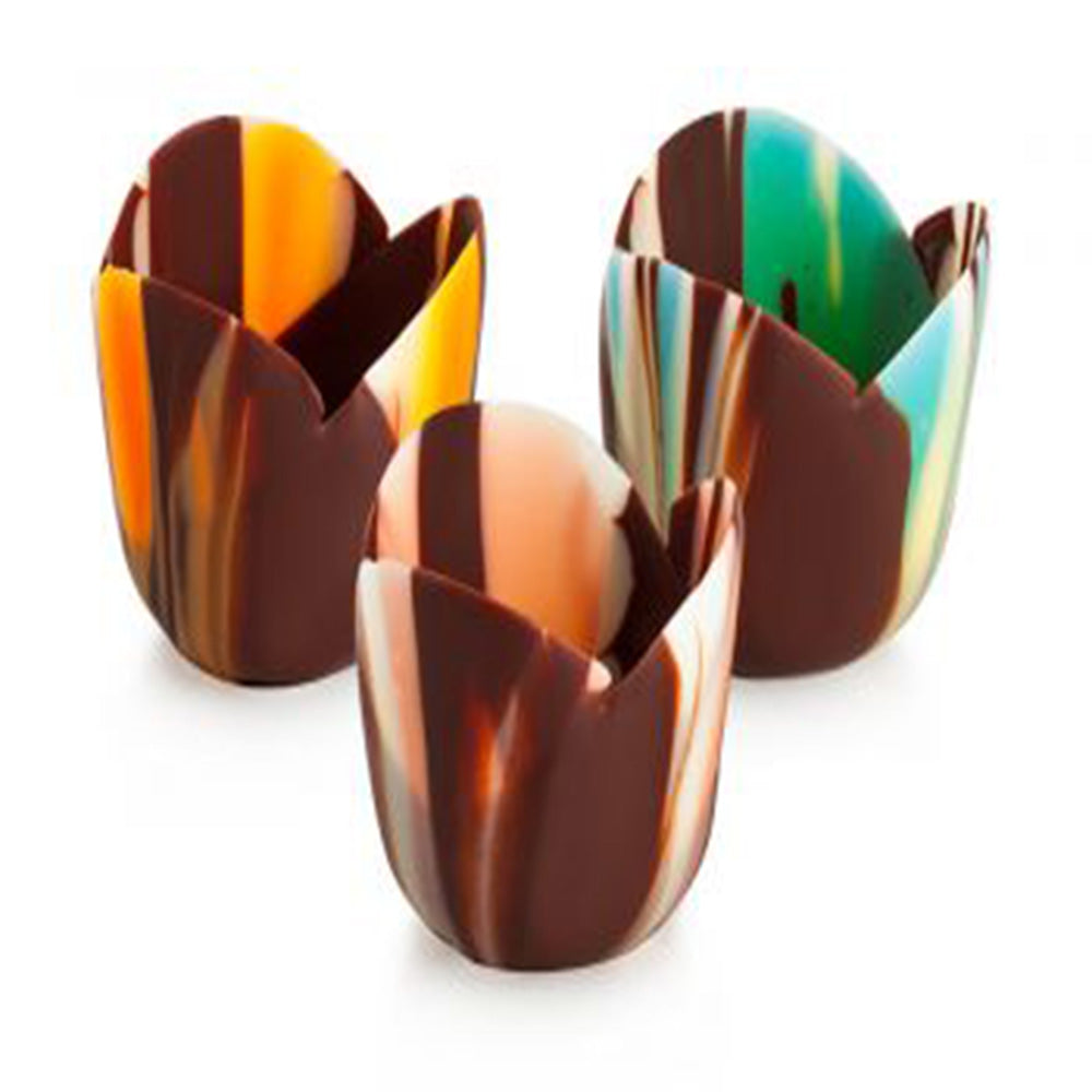 Papagino Petit Four Tulip Pastel Chocolate Cup